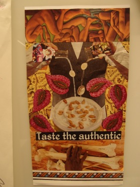 Collage exploring food issues produced by a workshop participant